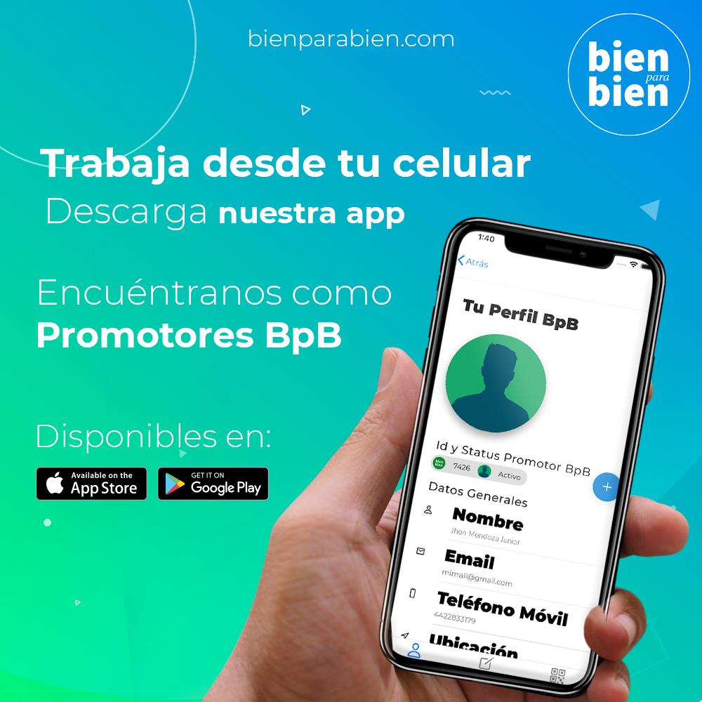Descarga la App Promotores BpB